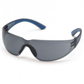 Pyramex Cortez Safety Glasses - Gray Lens with Navy Temples