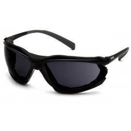 Pyramex Safety - Proximity - Black frame/ Gray H2MAX anti-fog lens Polycarbonate Safety Glasses - 12 / BX