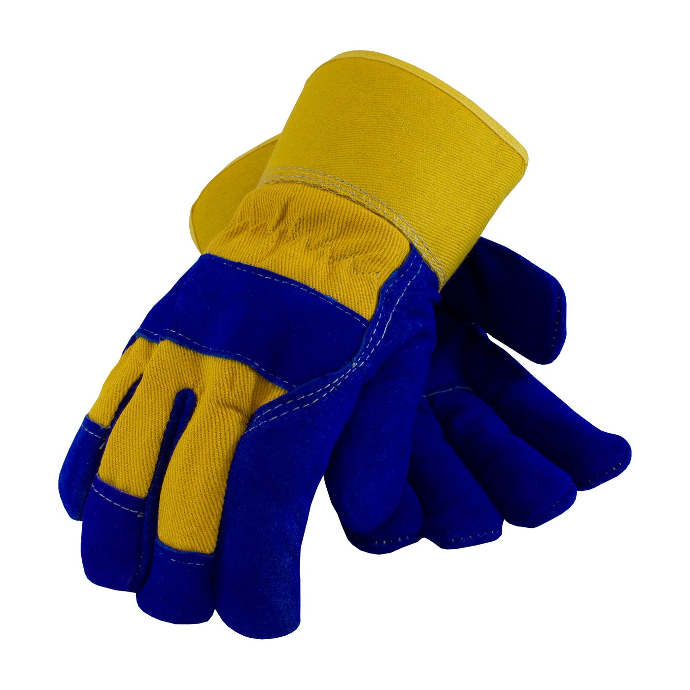 Blue And Yellow Work Gloves