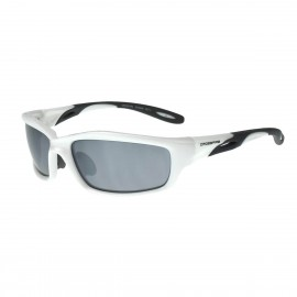 Radians Infinity Silver mirror White Frame Safety Glasses White 12 PR/Box