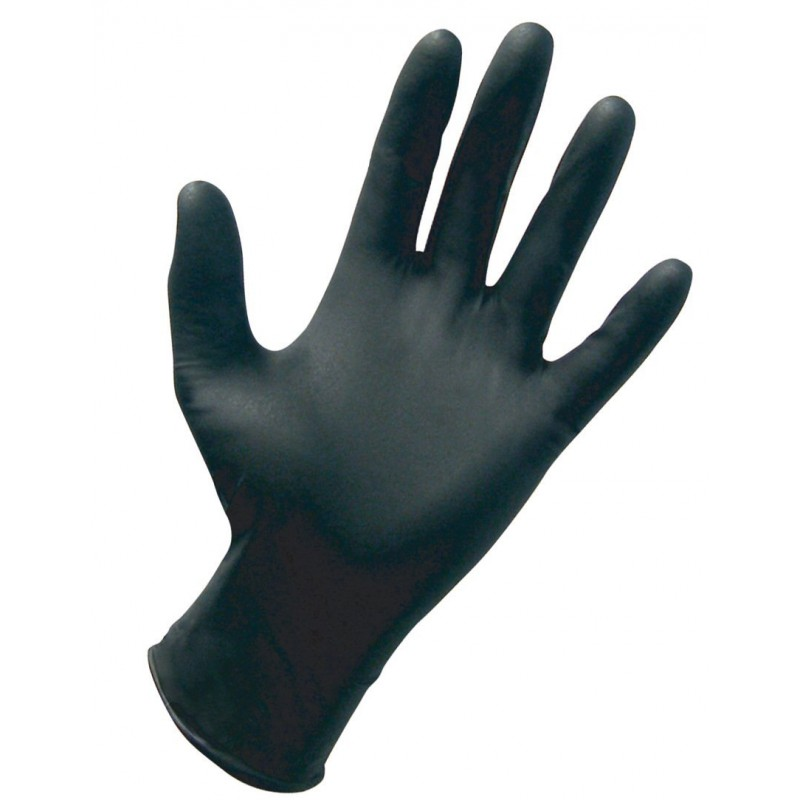 Microflex N64 High Five Onyx Black Nitrile Disposable Gloves,Ansell (Box of 100)
