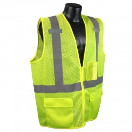 Radians SV27 Multipurpose Surveyor Type R Class 2 Safety Vest Green