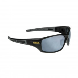 DEWALT Auger - Silver Mirror Lens Safety Glasses Full Frame Style Black Color - 12 Pairs / Box