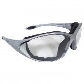 DEWALT Framework- Clear Lens Safety Glasses Full Frame Style Silver Color - 12 Pairs / Box