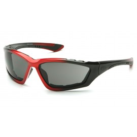 Pyramex  Accurist  Black/Red Padded Frame/Gray AntiFog Lens  Safety Glasses  12/BX