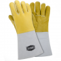West Chester 9060 Ironcat Premium Elk 14'' Yellow and White Stick Glove 6 Pair