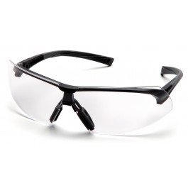 Pyramex  Onix  Black Frame/Clear AntiFog Lens  Safety Glasses  12/BX