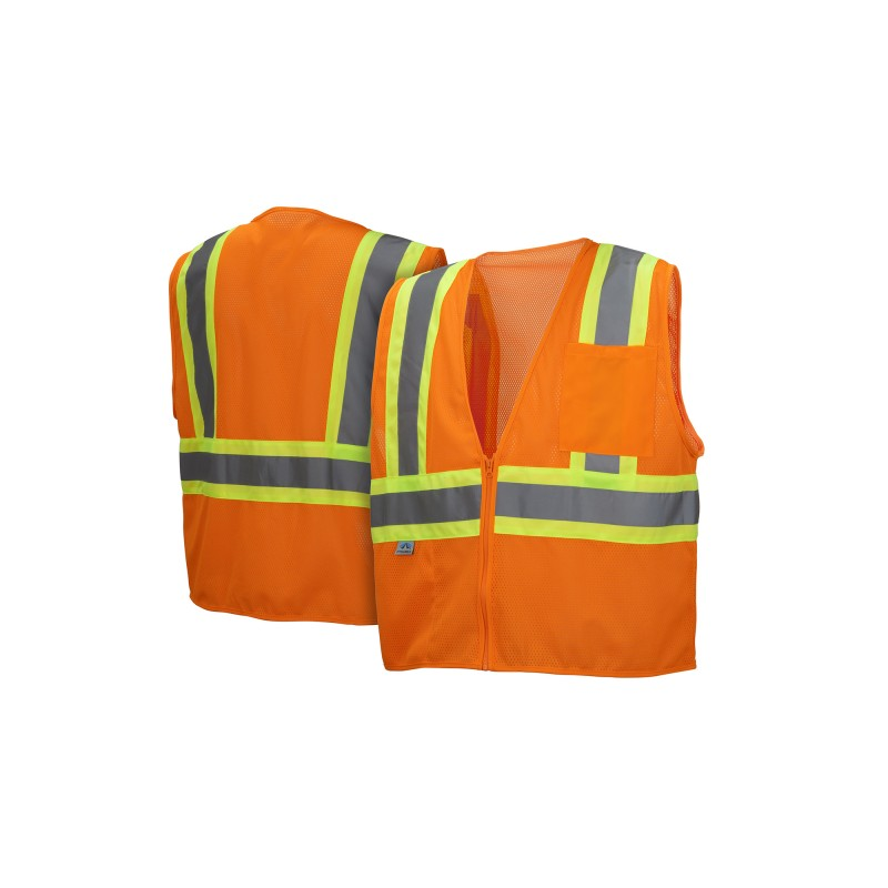 Pyramex RVZ22 Series Type R - Class 2 Hi-Vis Safety Vests 1/Ea
