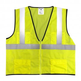 Sprighten Safety Vest Class 2 All Mesh Hi Viz Yellow (1 EA) Large