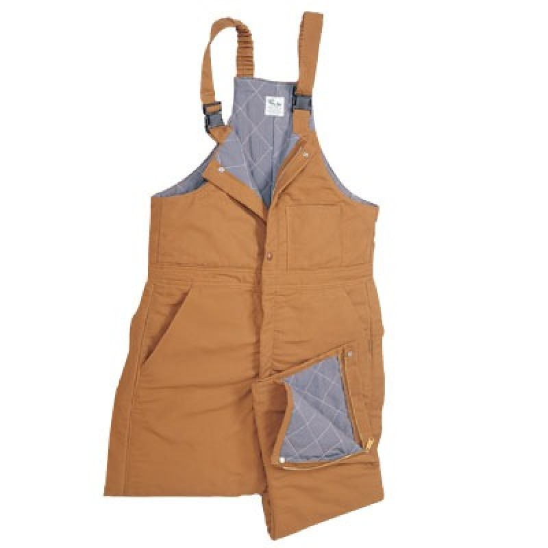 CPA Brown Duck Insulated Bib Overall - Level 4
