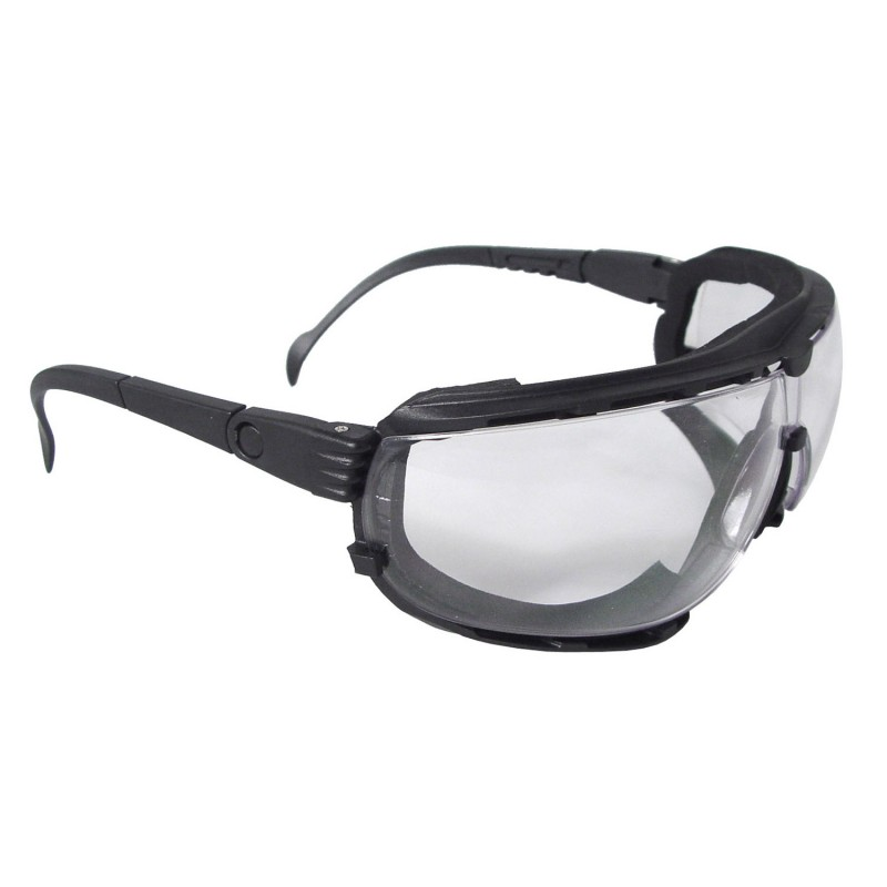 Radians Dagger Foam Lined Safety  Goggle Black Color 12 Pairs