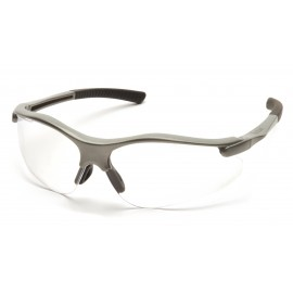 Pyramex  Fortress  Gray Frame/Clear Lens  Safety Glasses  12/BX