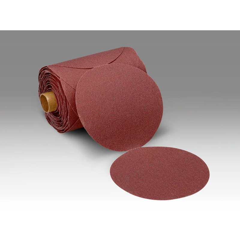 3M™ Stikit™ Paper Disc Roll 751I, 5 in x NH 80 E-weight, 100 discs per roll 4 rolls per case