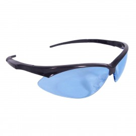 Radians Rad-Apocalypse - Light Blue Lens Safety Glasses Half Frame Style Black Color - 12 Pairs / Box