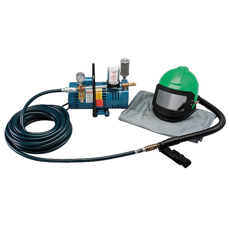 Allegro 9285-01 One-Worker Low Pressure Nova 2000 Helmet System, 50' Hose