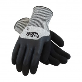 PIP 16-820/M G-Tek Seamless Knit PolyKor Blended Glove with Acrylic Lining and Double Dipped Latex Coated MicroSurface Grip on Palm, Fingers & Knuckles Medium 6 DZ