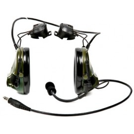 Peltor ComTac ACH ARC Communication Headset, Dual Comm, Single Downlead Split Audio - FOLIAGE GREEN