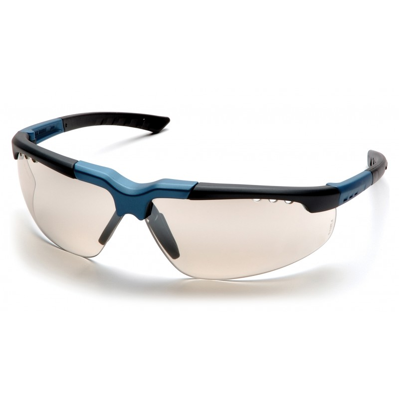 Pyramex Safety - Reatta - Blue-Charcoal Frame/Indoor/Outdoor Mirror Lens Polycarbonate Safety Glasses - 12 / BX