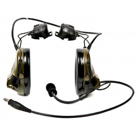 Peltor ComTac ACH ARC Communication Headset, Dual Comm, Single Downlead Split Audio - COYOTE BROWN