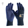 PIP 34-244/L ATG Ultra Light Weight Seamless Knit Nylon Glove with Nitrile Coated MicroFoam Grip on Palm & Fingers Micro Dot Palm Large 12 DZ