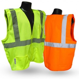 Radians SV2Z SV2ZGM SV2ZOM Safety Vest  Class 2  Economy Mesh with Zipper (1 EA)