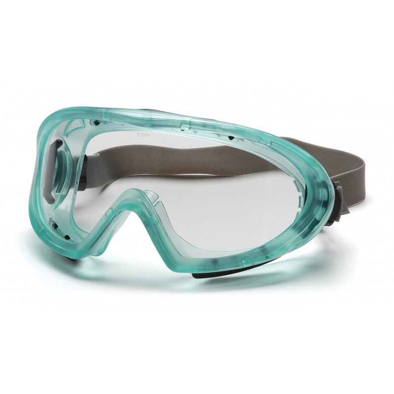 Pyramex Safety - Capstone - Direct/Indirect-Chemical Green Frame/Clear AF Lens w/ Neoprene Strap Polycarbonate Safety Glasses - 12 / BX