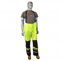 Radians RW32-EZ1Y Rain Pants with Bib, Heavy Duty Rip Stop, Waterproof