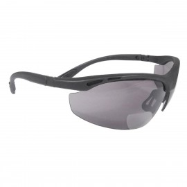 Radians Cheaters - Smoke 2.5 bi-focal Safety Glasses Half Frame Style Black Color - 12 Pairs / Box