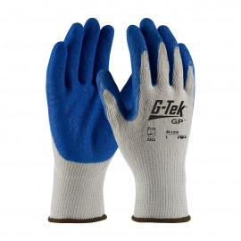 PIP 39-1310/M G-Tek Seamless Knit Cotton / Polyester Glove with Latex Coated Crinkle Grip on Palm & Fingers Economy Grade Medium 6 DZ