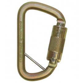 3M™ DBI-SALA® Rollgliss™ Technical Rescue Offset D Fall Arrest Carabiner with Captive Eye 2000117, Gold, Medium