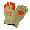 West Chester 990KOT/L Keystone Thumb Select Grain Cowhide Driver Gloves