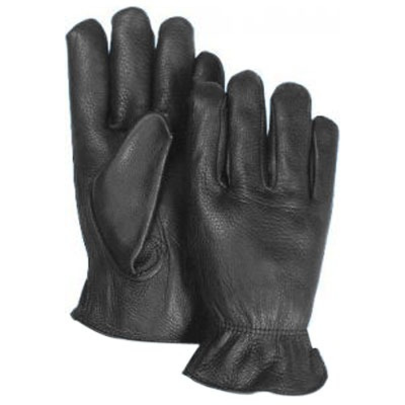 Majestic Black Deerskin Leather Gloves