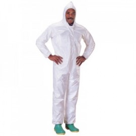 Tychem SL Coveralls with Attached Hood, Elastic Wrists and Ankles - Bound Seams