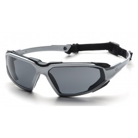 Pyramex  Highlander  SilverBlack Frame/Gray AntiFog Lens  Safety Glasses  12/BX