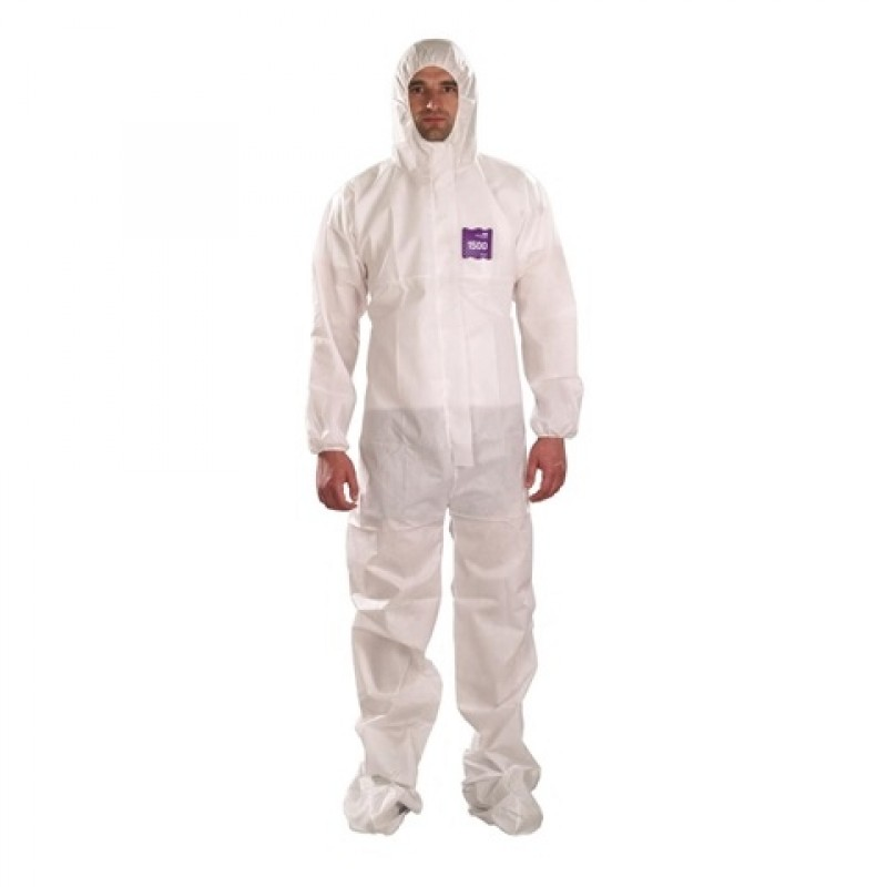 Ansell MicroChem ALPHATEC 68 1500 Serged Hooded Booted Coverall (25/CS)