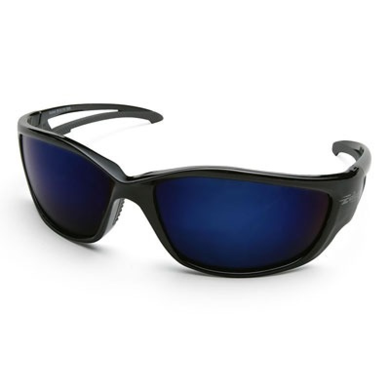 Edge Kazbek X-Large Safety Glasses - Blue Mirror Lens