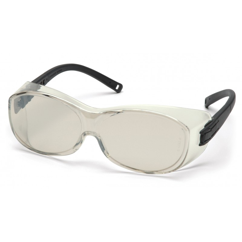 Pyramex Safety - OTS - Black Frame/Indoor/Outdoor Mirror Lens Polycarbonate Safety Glasses - 12 / BX