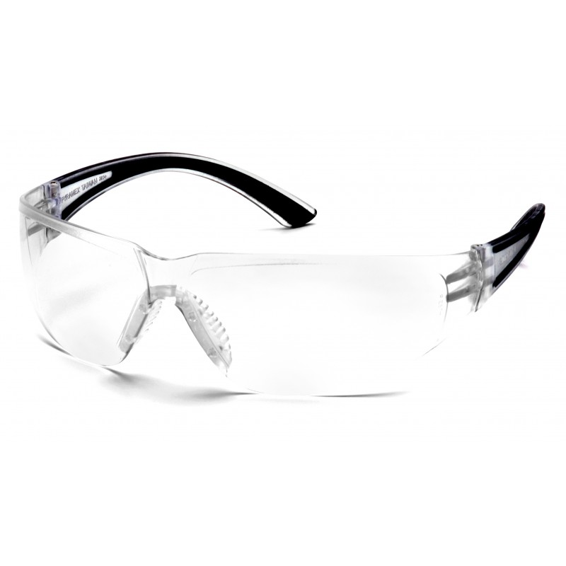 Pyramex Safety - Cortez - Black Temples/Clear Lens Polycarbonate Safety Glasses - 12 / BX