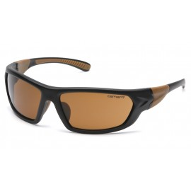 Carhartt Carbondale Sandstone Bronze Lens  Black/Tan Frame Safety Glasses 12/BX