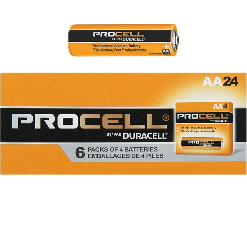 duracell procell aa battery orange