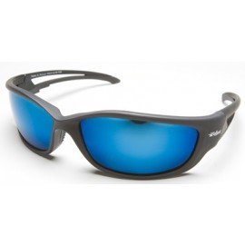 Edge Kazbek XL Polarized Safety Glasses with Blue Mirror Lens