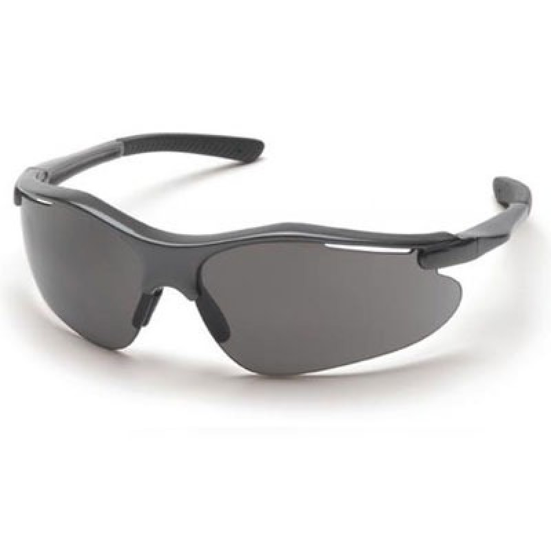 Pyramex Fortress Safety Glasses - Gray Lens with Gray Frame