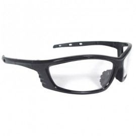Radians Chaos Safety Glasses - Black Frame, Clear Lens 12 Pairs