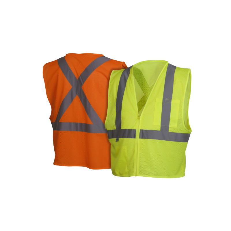 Pyramex RCZ21 Series Vests  Type R - Class 2 Hi Vis Safety Vests Vests - 1 Each