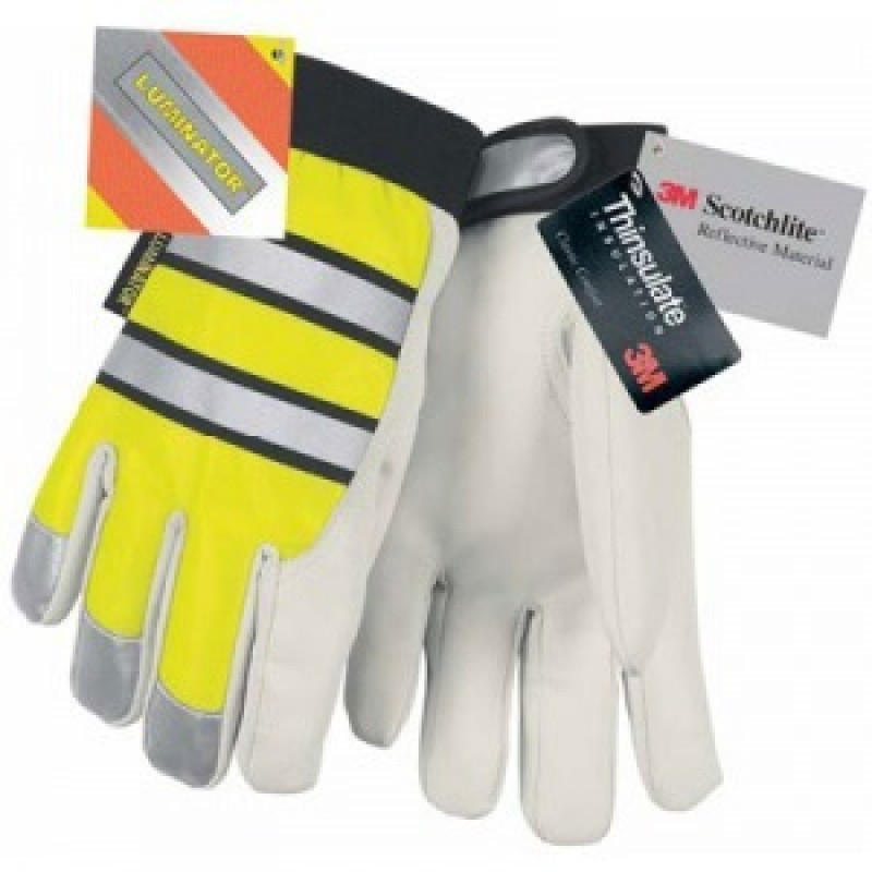Hi Vis Goatskin Mechanics Glove