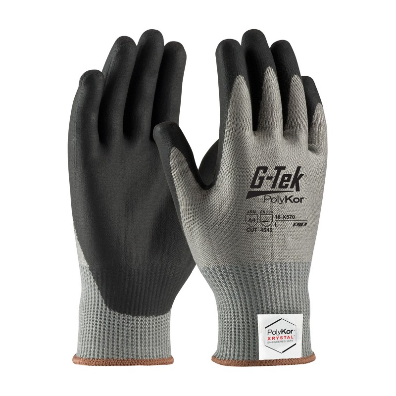 PIP 16-X570/XS G-Tek Seamless Knit PolyKor Xrystal Blended Glove with NeoFoam Coated Palm & Fingers Touchscreen Compatible XS 6 DZ