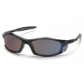 Pyramex Safety - Solara - Black Frame/Blue Mirror Lens Polycarbonate Safety Glasses - 12 / BX