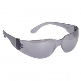 Radians Mirage Silver Mirror Safety Glasses Frameless Silver Mirror 12 PR/Box