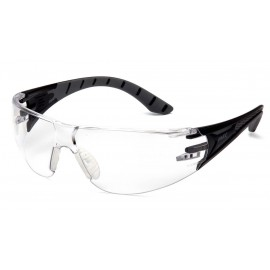 Pyramex  Endeavor Plus  BlackGray Frame/Clear Lens  Safety Glasses  12/BX
