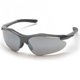 Pyramex Fortress Safety Glasses - Silver Mirror Lens with Gray Frame